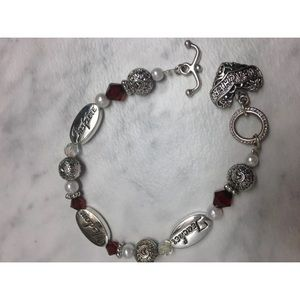 "7"" Silver tone Teacher Themed Charm Bracelet"